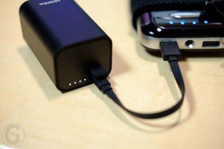 cocorode(ココロデ)之バッテリーケースを充電