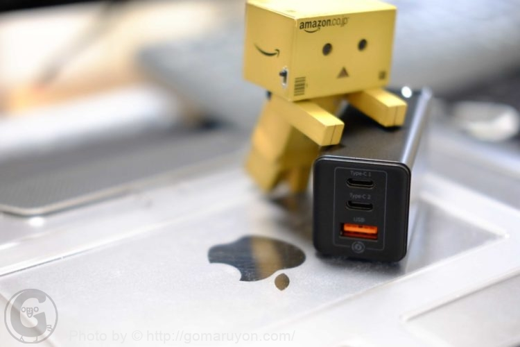 Macbookに使える最強小型の電源アダプタXiaomi Baseus GaN充電器65W