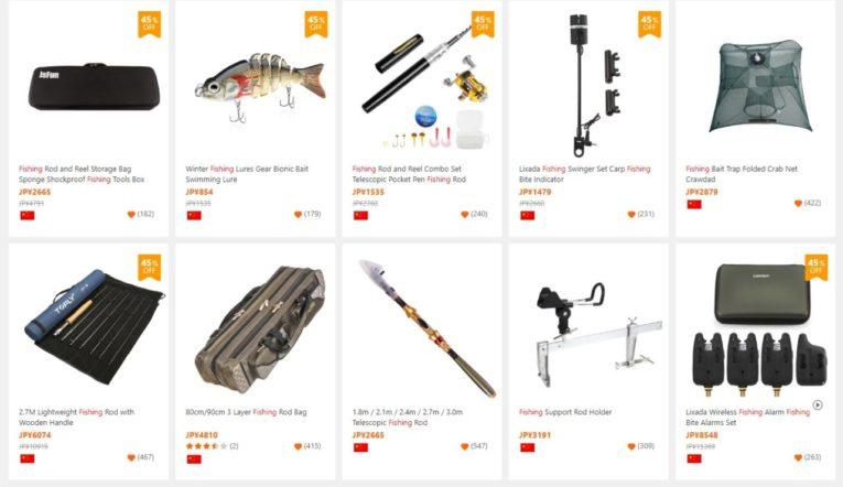海外通販で釣具